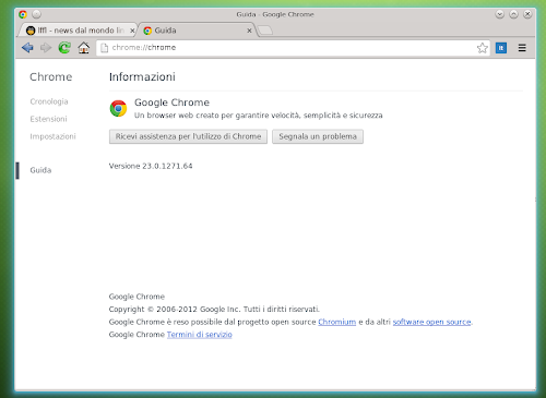 Google Chrome 23
