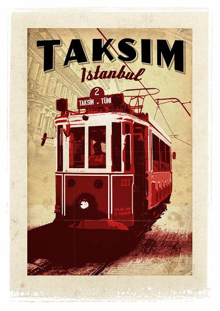 Taksim Retro Poster