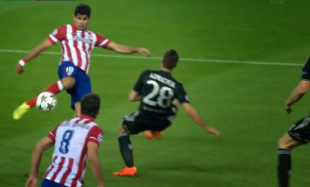 Costa, Atletico Madrid - Chelsea