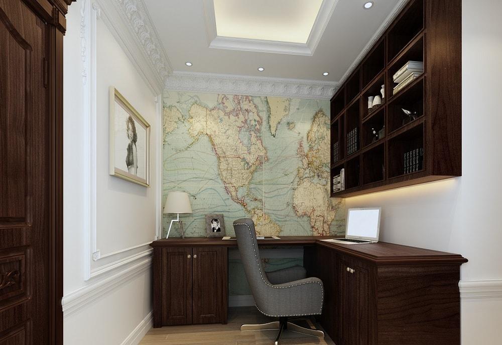 Phòng đọc sách căn hộ The Emerald Mỹ Đình