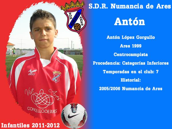 ADR Numancia de Ares. Infantís 2011-2012. ANTON.