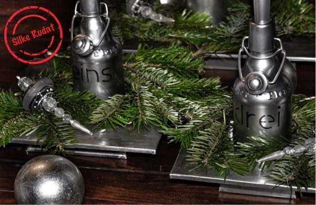 silke rudat der deutsche blog silberner adventskranz aus. Black Bedroom Furniture Sets. Home Design Ideas