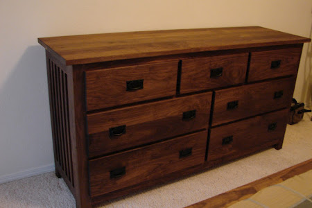 70 x 36 Mission Horizontal Dresser in Oil & Wax Walnut
