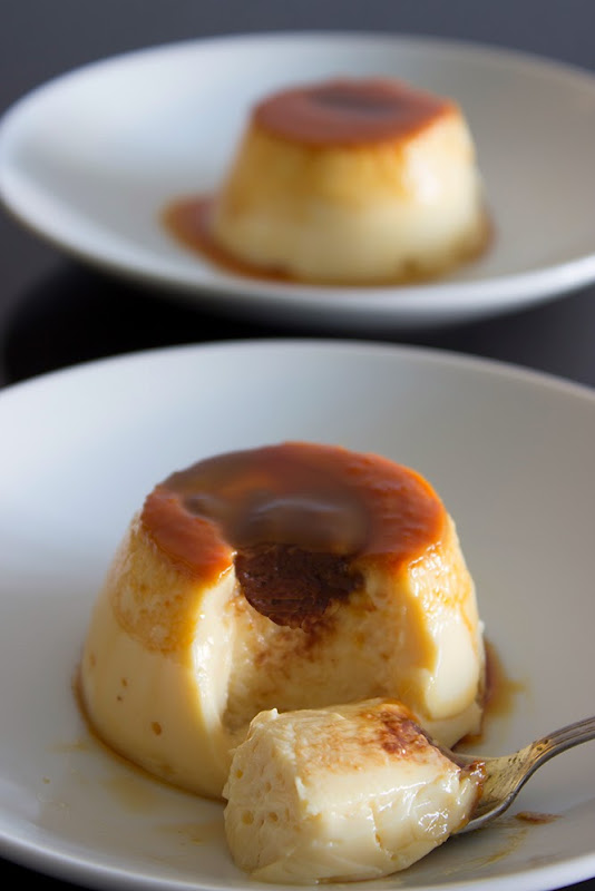 Flan relleno de chocolate