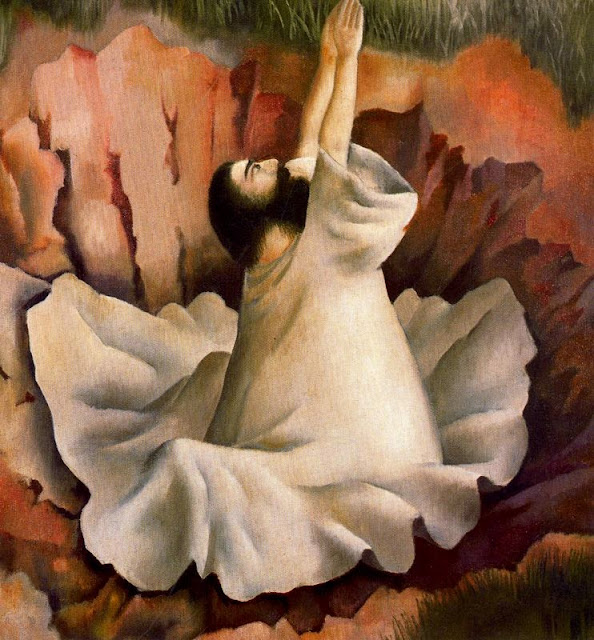 Stanley Spencer - Christ in the Wilderness - Driven by the spirit