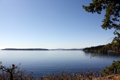 Ocean views from Ruckle Provincial Park on Salt Spring Island in British Columbia