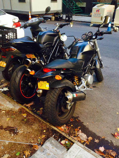 Tigho NYDucati still riding to work into November.