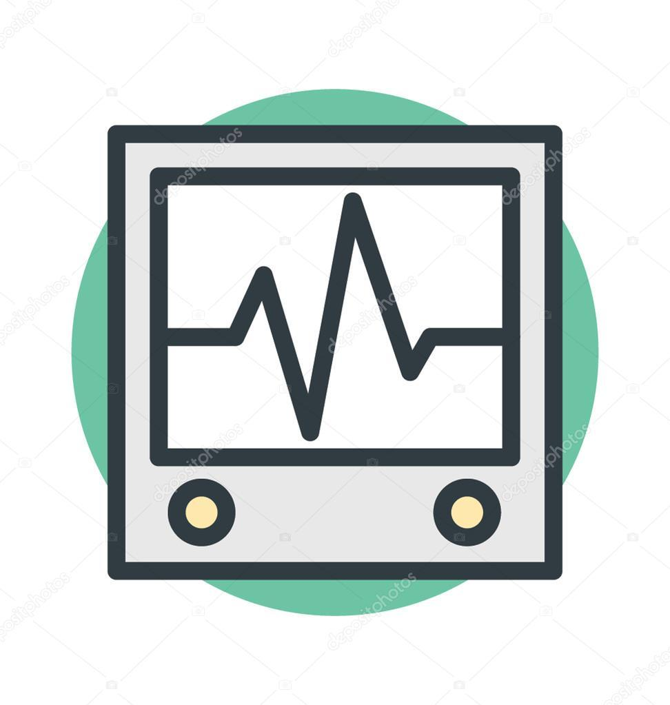 Ecg Machine Vector Icon — Stock Vector © vectorsmarket #101077178