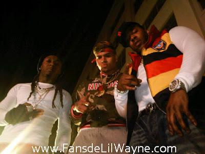 Imagen de Chris Brown, Lil Wayne y Busta Rhymes en el rodaje del video de Look At Me Now del nuevo disco de Chris F.A.M.E.