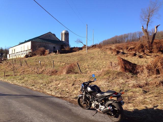 Winter Ducati Ride in Chester County Pennsylvania via Tigho NYDucati Farm House