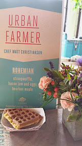 Chef Matt Christianson from Urban Farmer who provided Bohemian, a stroopwaffle with bacon jam and eggs and bourbon maple at Portland Monthly's Country Brunch 2014 at Castaway benefiting Zenger Farm