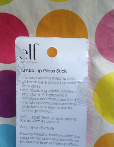 ELF Jumbo Lip Gloss Stick in Flirty & Girly