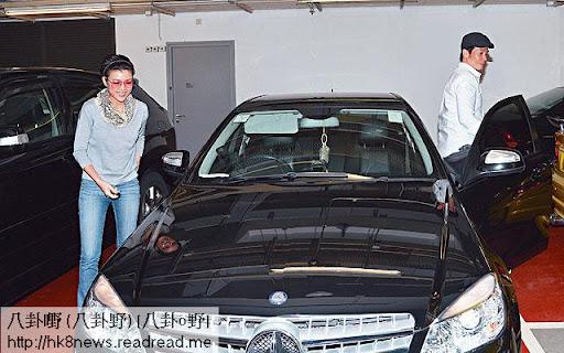 陳茵媺負責揸車,去到圓方陳豪主動向記者表示同女友拍拖睇西片《救參 96小時 2》。
