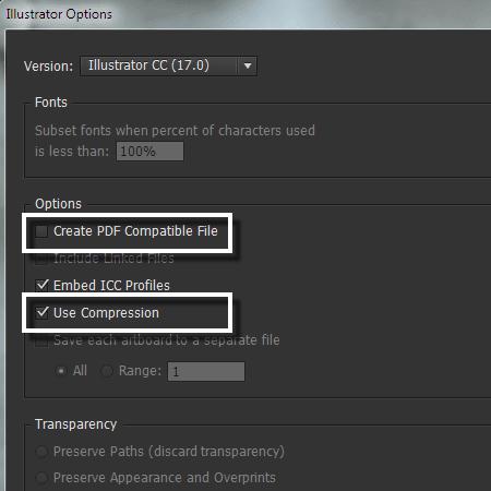 Cách làm giảm kích thước file thiết kế trong Illustrator
