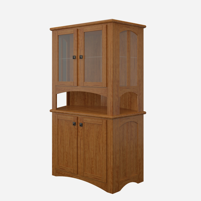 Haiku corner cabinet solid wood