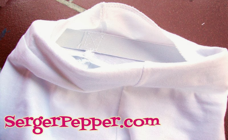 Serger Pepper - Ruffled Leggings - elastic inside the casing