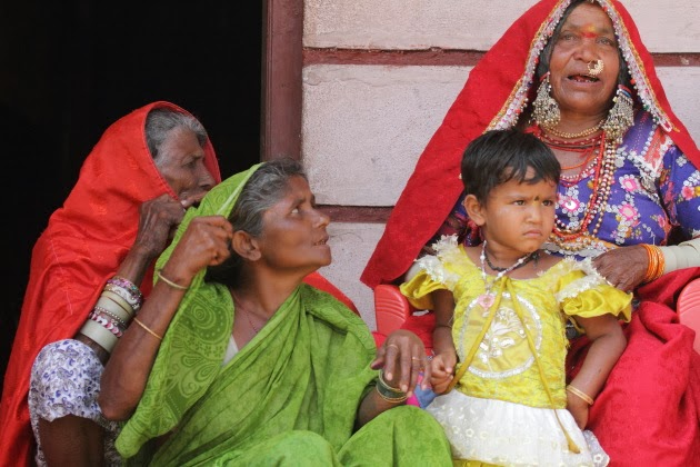 Lamani Tribal Women sing a traditional song at Dandeli