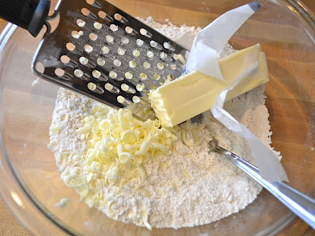 grate butter
