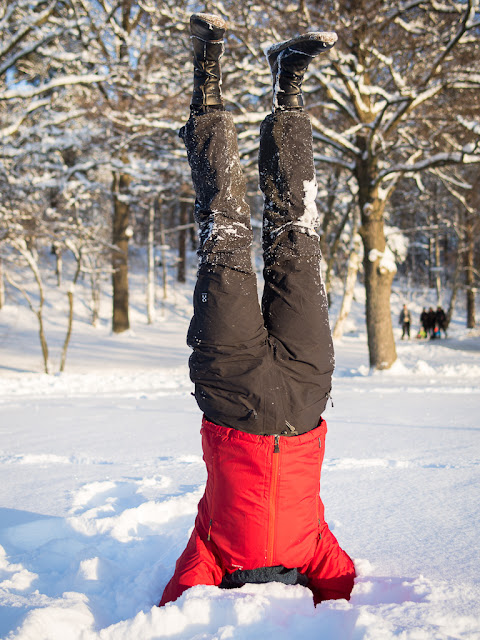 Just a normal handstand in the snow.