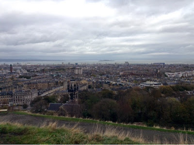 view of edinburgh city from calton hill