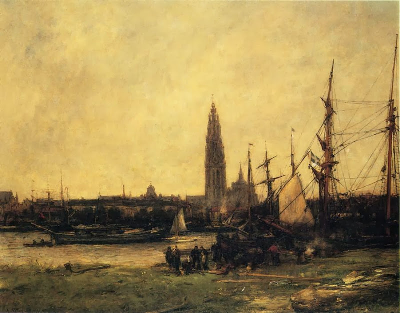 Antoine Vollon - View of Antwerp