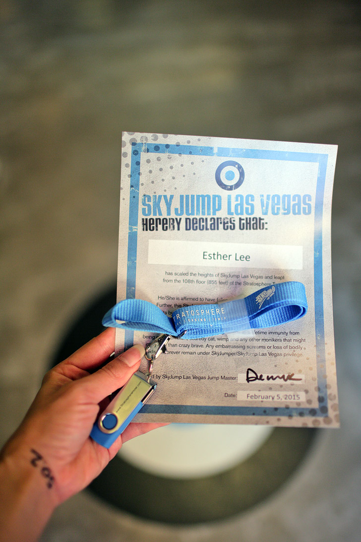 Jump off the Stratosphere with SkyJump Las Vegas.