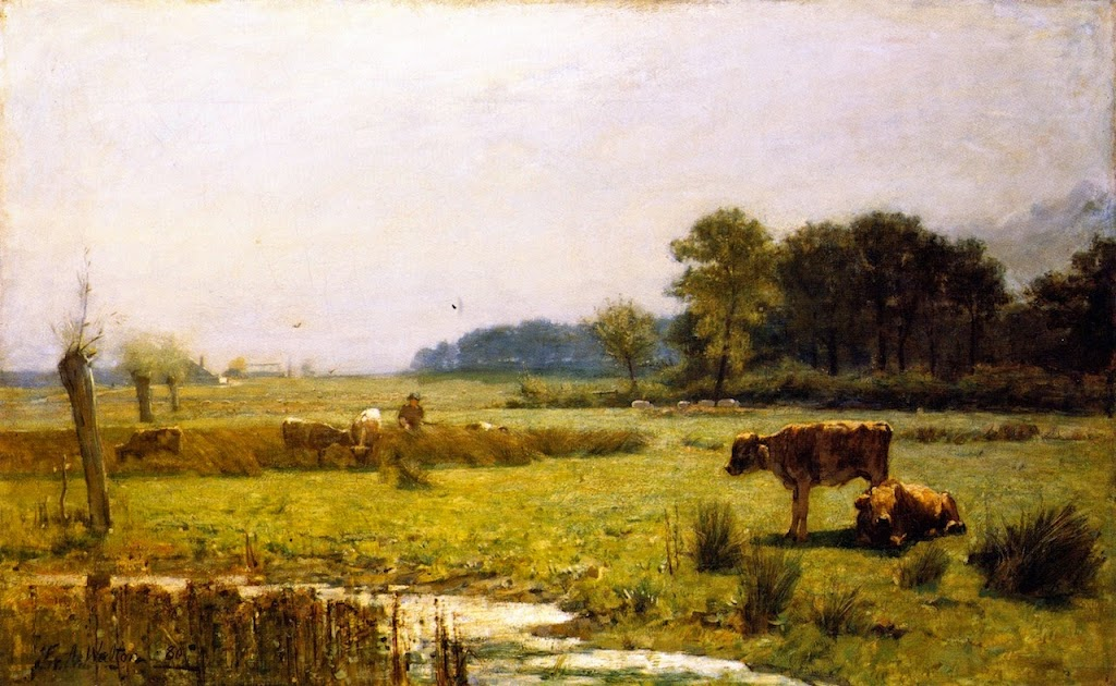 Edward Arthur Walton - A Surrey Meadow, Morning