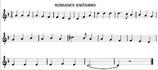 Romance Anónimo en Re menor para flauta y acordes en La menor. También os sirve una de las dos versiones para saxofón, trompeta, clarinete, oboe, tenor, soprano, trompa, corno inglés o cualquier instrumento melódico