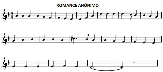 Romance Anónimo para fácil para todos los instrumentos melódicos en clave de solen Re menor Romance Anónimo Partitura Fácil para flauta y acordes en La menor. También os sirve una de las dos versiones para saxofón, trompeta, clarinete, oboe, tenor, soprano, trompa, corno inglés o cualquier instrumento melódico en clave de sol. Easy Sheet Music Treble Clef in Am for Saxophones, Trumpet, Flute, Violin, Recorder, Horns, Clarinet...