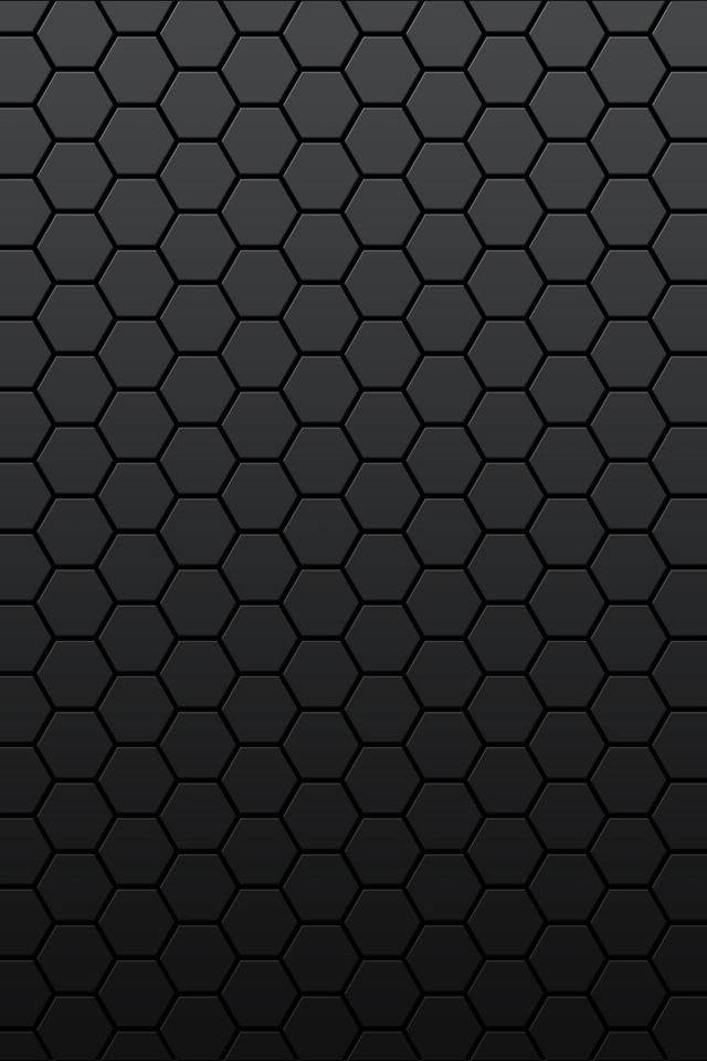 Black Hexagon CG Wallpapers For iPhone4S