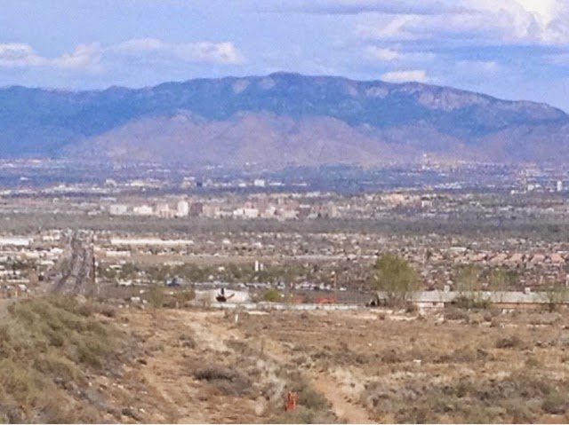 Picture of Alburquerque from a nearby hill