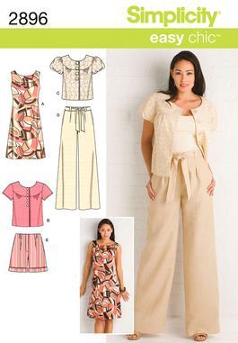 mimi g.: McCalls 6556 Pullover Dress w/ Gap Skinnies + Pattern