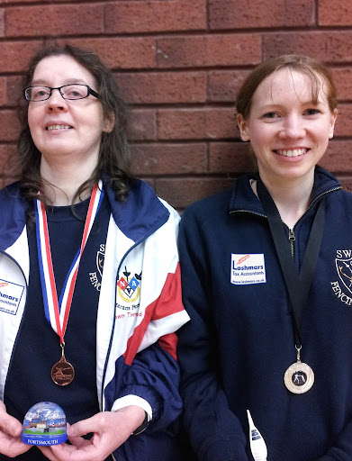[Photo: Dawn Townsend and Victoria Pritchard at the Hempshire Open. Photo by Robin Catling