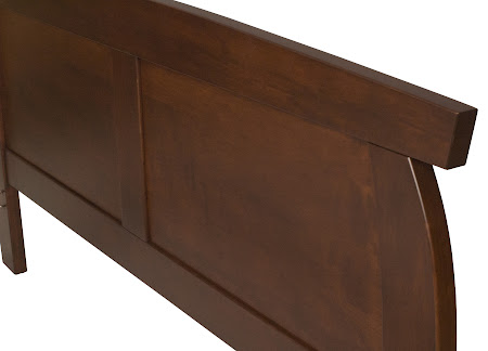 Haiku Platform Bed in Chocolate Cherry, Headboard Closeup
