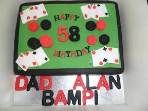 Poker Table Birthday Cake