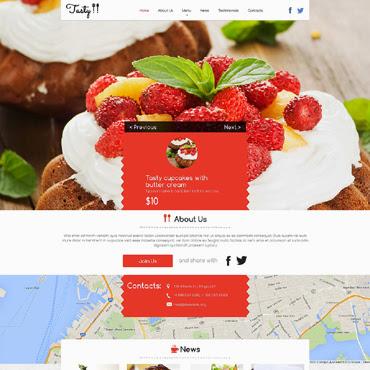 Cafe and Restaurant Website #50718