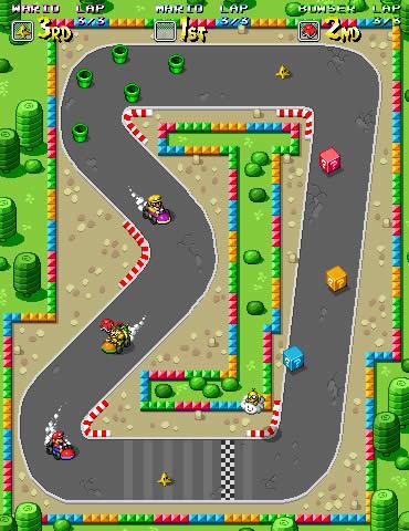 supermariosprint Como seriam os games atuais em versões Java para celular