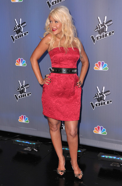 the voice christina aguilera outfit. Christina Aguilera attends