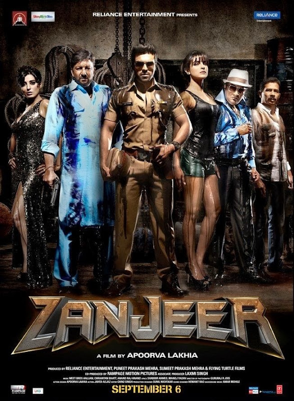 Poster Of Hindi Movie Zanjeer (2013) Free Download Full New Hindi Movie Watch Online At Alldownloads4u.Com