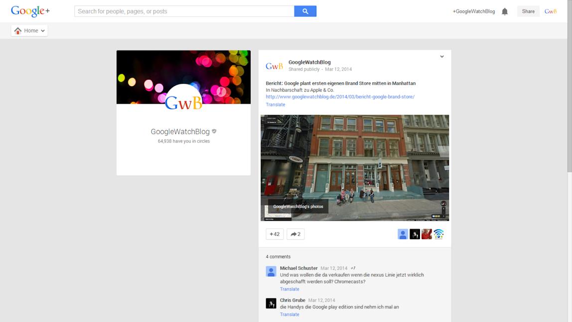 Google+ Foto-Trick