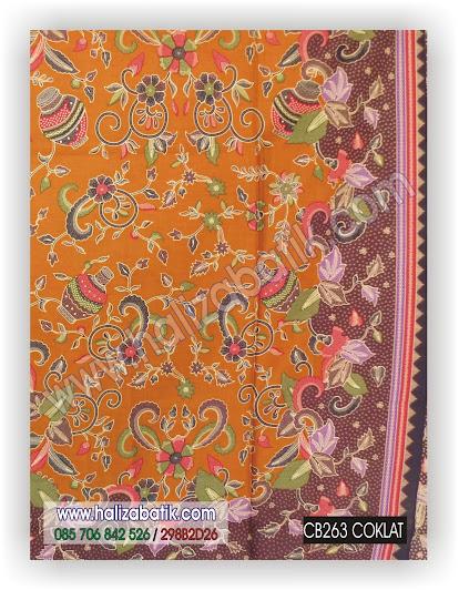 Baju Batik Modern, Batik Keluarga, Kain Batik Murah, CB263 COKLAT