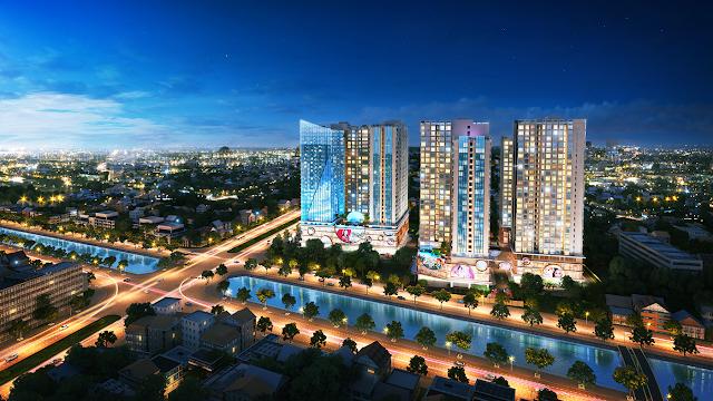 Phối cảnh của chung cư Hinode City Minh Khai