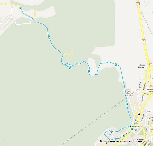 מסלול הליכה מהמוחרק ליוקנועם