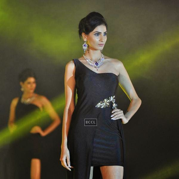 A model walks at the ramp during the launch of Leading Jewellers of the world presents Ticket to Bollywood by Gitanjali Gems Pvt Ltd in Mumbai.(Pic: Viral Bhayani)