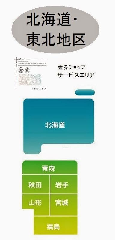 北海道及び東北地区の金券ショップ情報・記事概要の画像