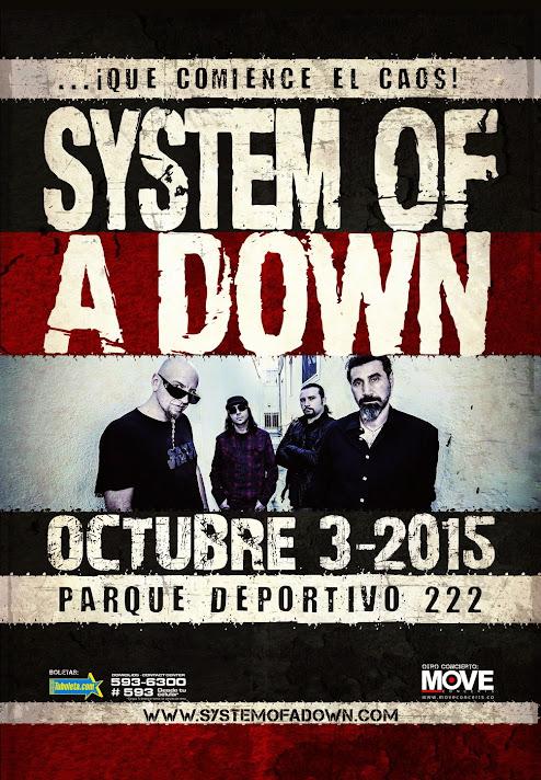System of a Down confirmado em show na Colômbia