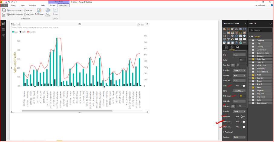 Dual Axis Chart in Microsoft Power BI - Step By Step 45