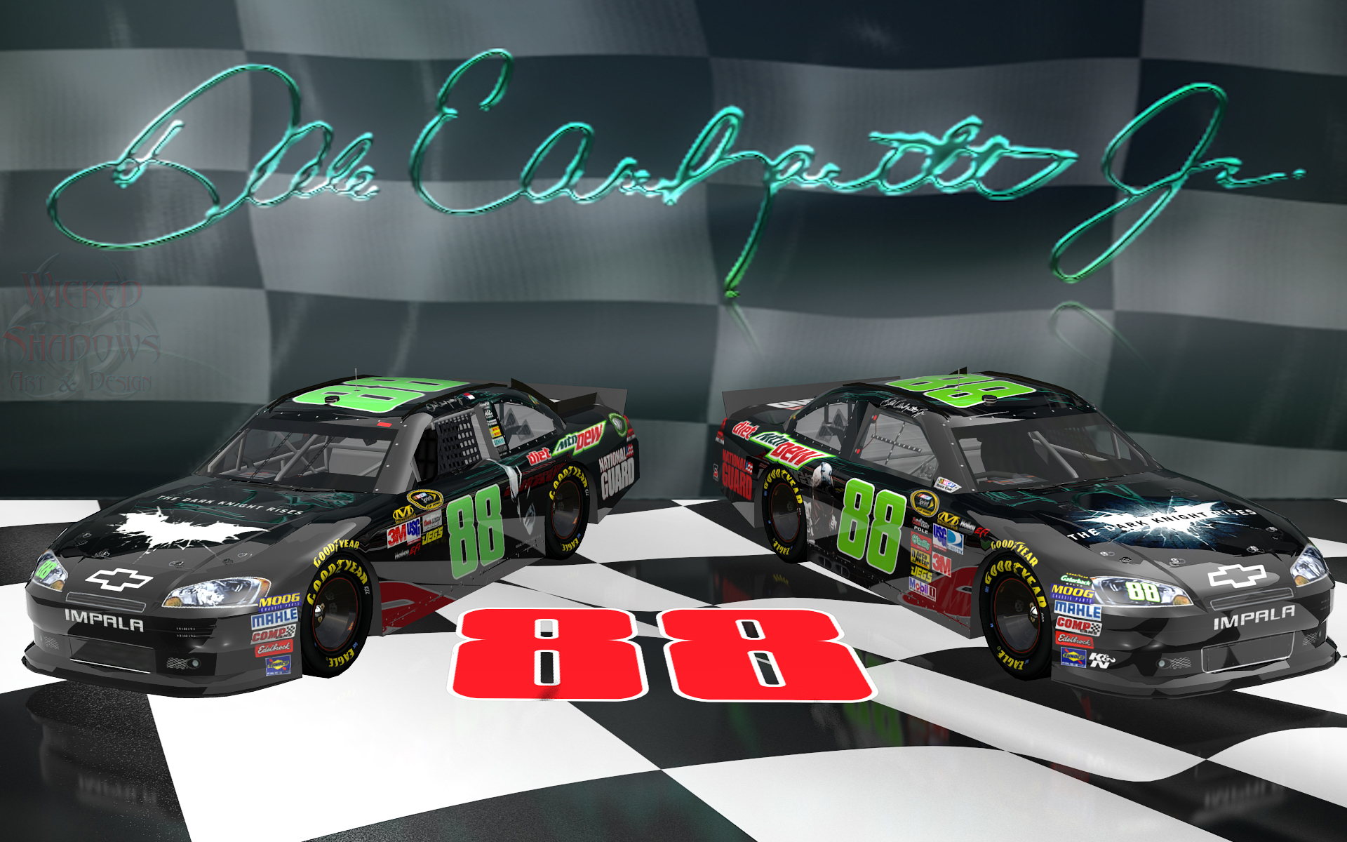 wallpapers by wicked shadows dale earnhardt jr victory