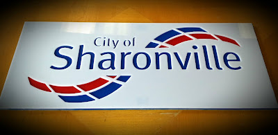 Sample CNC routed sign made for City of Sharonville