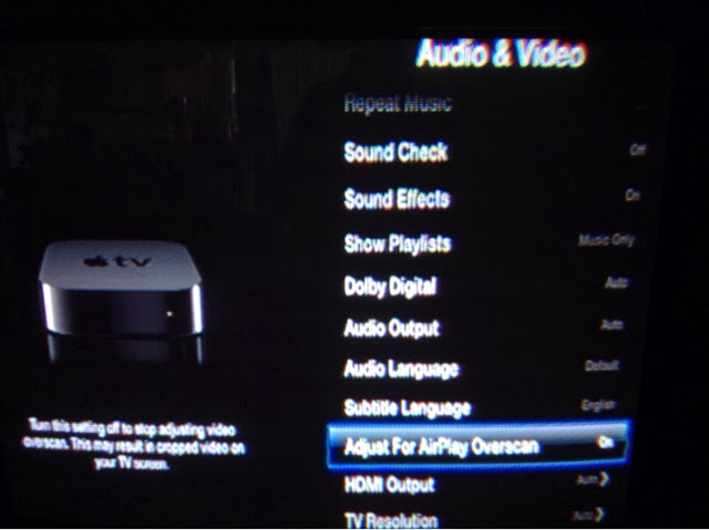 Apple tv Settings Screen in Apple tv Click on Settings